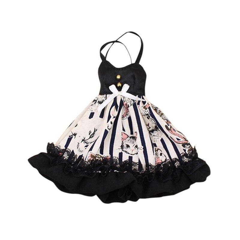DBS Blyth ICY doll Одежда, платье с рисунком кошки, подходит для 1/6 шарнирного тела, подарок для девочки licca