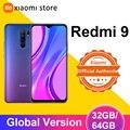 Глобальная версия Xiaomi Redmi 9, 3 Гб оперативной памяти, 32 Гб встроенной памяти/4GB 64GB смартфон Helio G80 Octa Core 13MP Quad камера 6,53