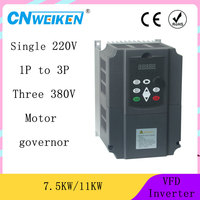 variable frequency converter 50Hz/60Hz motor inverter VFD 7.5kw single phase 220v input three phase 380 output