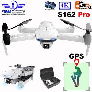 FEMA S162 PRO Drone GPS z kamerą Hd profesjonalny 5G WIFI FPV składany pilot Quadrocopter Drone 4K S161 VS SG907 PRO