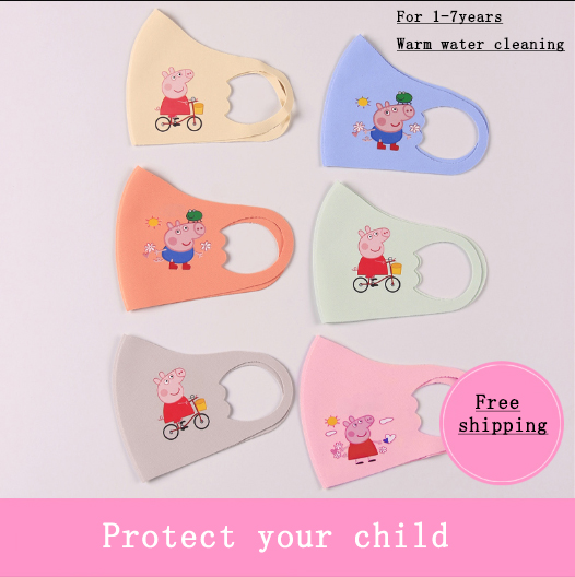 2020 New Peppa Pig WashableSponge Anti Dust Mouth Mask Dustproof Reusable Anti-pollen Face Mask For Children Kids Health