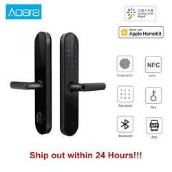 NEUE Aqara N100 Smart Türschloss Fingerprint Bluetooth Passwort NFC Entsperren Arbeitet mit Mijia HomeKit Smart Verknüpfung mit Türklingel