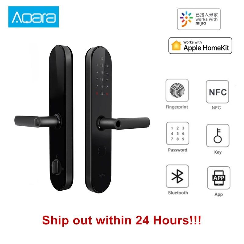 NUOVO Aqara N100 Smart Serratura Della Porta di Impronte Digitali Password Bluetooth NFC Sbloccare Funziona con Norma Mijia HomeKit Intelligente di Collegamento con il Campanello