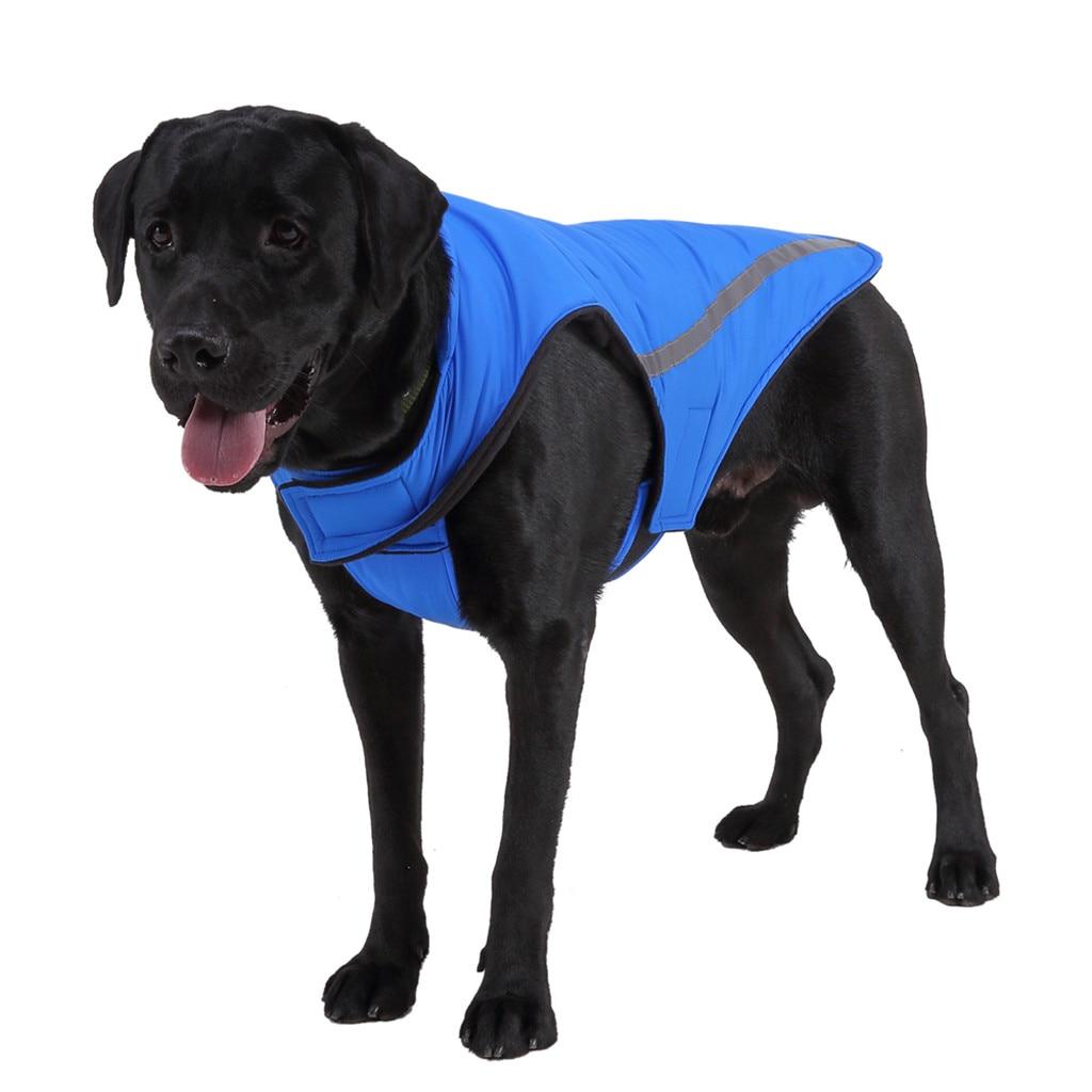 Теплая одежда для собак, светоотражающая водонепроницаемая куртка для домашних питомцев, зимнее пальто, одежда для щенков, лыжный костюм для маленьких, средних и больших собак, французского бульдога-3