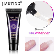 JIAUTING 15ML Poly Gel pour ongles pour Extension d'ongles Gel acrylique doigt Nail Art manucure vernis hybride Poly UV Gel vernis Extension