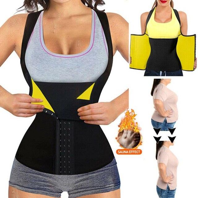 Women Neoprene Waist Trainer Corset Sweat Vest Weight Loss Body Shaper Workout Tank Tops Faja Shapewear Sauna Slimming Belt