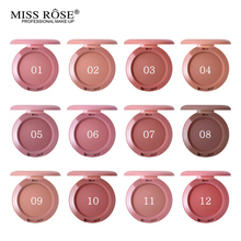 12 Colors Miss Rose Blush Palette Peach Cheek Shimmer Matte Bronzer Singel Blusher Face Contour Cosmetics Makeup Powder miss rose brand matte blush palette peach cheek shimmer bronzer singel blusher on contour cosmetics 12 colors face makeup powder