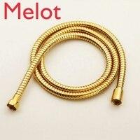 becola 25 pcs 150cm rose gold hose black antique brass plumbing hoses shower pipe chrome shower hose B 150