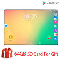 Novo global 10.1 Polegada tablet 3g 4g fdd lte android 9.0 octa núcleo 1280x800 ips 2.5d tela de toque ram 6 gb rom 128 gb gps tablet 10.1