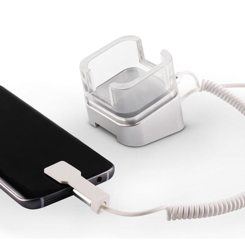 (20 set/pacote) 2019 novo modelo de carregador de base de exibição de alarme do assaltante de acrílico transparente para Huawei smartphones
