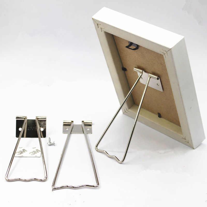 Photo Frame Pedestal Stand  Easels Picture Bracket Back Holder Iron Display Home