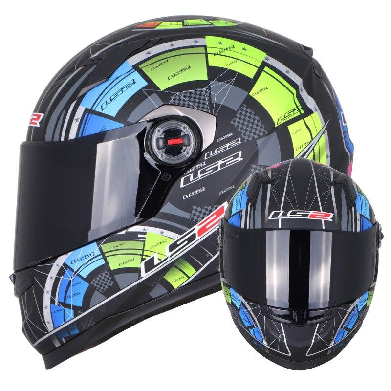 LS2 FF358 casque moto intégral Alex Barros motocross racing homme femme ls2 Original ECE approuvé multi-couleur pare-soleil - 5