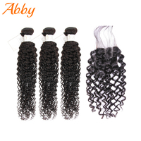 Water Wave Bundles With Closure Malaysian Human Hair Weave Remy Abby Hair For Black Women Water Wave Hair Extension Promotion