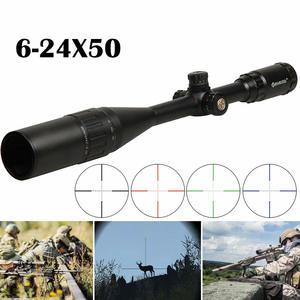 Riflescope 6-24X50 Optical-Sight Crosshair Tactical Illuminated Green AOE Red