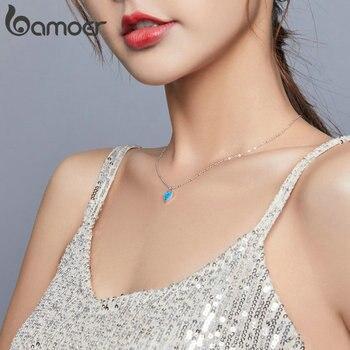 Женское полупрозрачное ожерелье bamoer, ожерелье из стерлингового серебра 925 пробы с платиновым полупрозрачным опалом, ювелирное изделие от роскошного бренда в интернет-магазин aliexpress