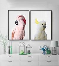 Pintura moderna imagem da parede animais papagaio fotografia lona arte impressão e cartaz decoração para casa