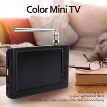 LEADSTAR 5 Cal kolor tft-led przenośny kieszonkowy telewizja cyfrowa FM ATV uchwyt wysokiej rozdzielczości Mini telewizor ue wtyczka 110-220V tanie tanio CN (pochodzenie) ≤6 cale FHD(1920*1280) 16 9 PAL (50Hz) NONE 510g 50MHz -230MHz Pocket Digital television Mini Television