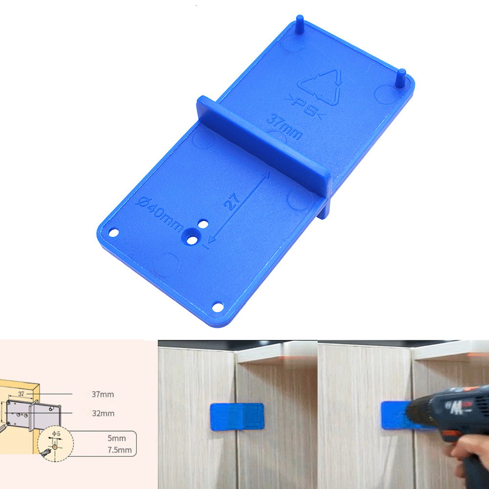 35/40mm Hinge Hole Drilling Guide Locator Woodworking Punch Hinge Drill Hole Opener Hinge Installation Jig Door Cabinets Opener