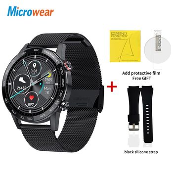 Microwear L16 Smart Watch Men Sports Fitness Tracker IP68 Waterproof Heart Rate Monitor Android IOS Full Touch Screen Smartwatch 18