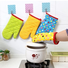 Microwave Oven High-Temperature Mitts Baking-Gloves Skid-Resistance Anti-Hot-Tool Heat-Insulation