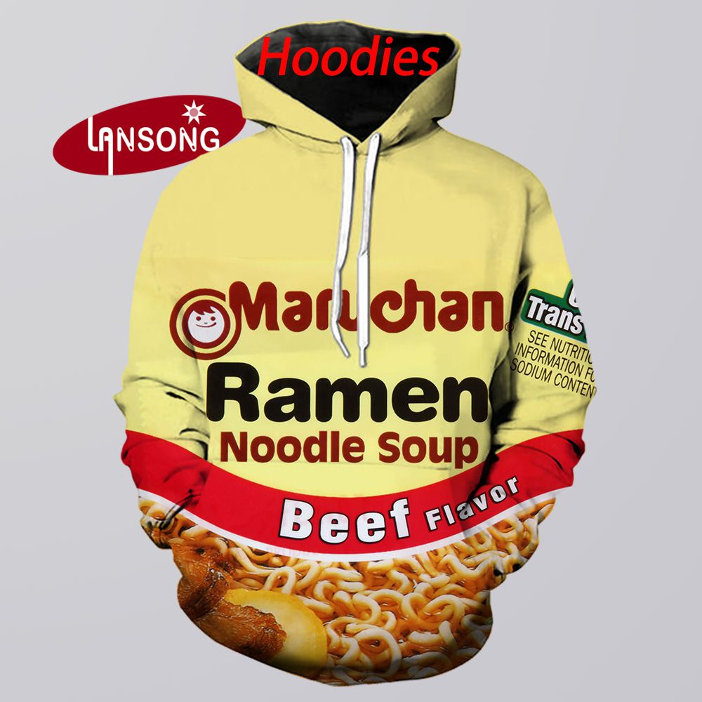 New Hoodies 3d Print Ramen Noodle Beef Harajuku Sweashirts/pants Jacket Men Short Homme Clothes Men Hip Hop Streetwears Trousers