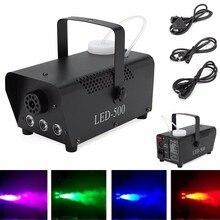 Szybka wysyłka disco kolorowe 500W maszyna do dymu mini LED zdalnego fogger wyrzutnik dj Christmas party światło sceniczne maszyna do mgły