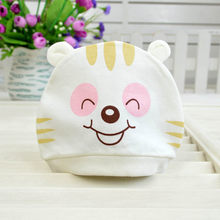 Children Cute Cotton Big Eyes Cat Soft Beanies Hat Girl Boy Thick Bib Mask Ear Protector Hat Kids Slouchy Baggy Head Lovely Cap(China)