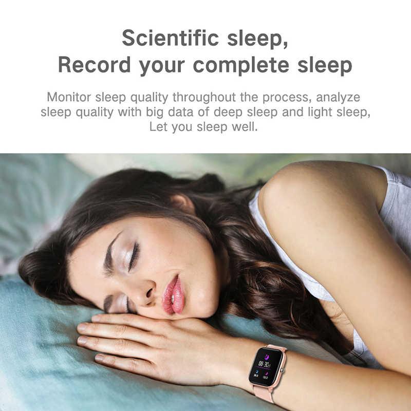 Lige novo relógio inteligente feminino 1.4 Polegada tela de toque cheio freqüência cardíaca pressão arterial smartwatch suporta 13 idiomas fitness rastreador