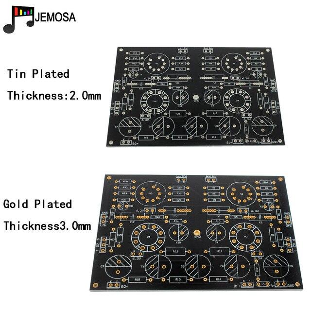 DIY projeleri ses tek uçlu amplifikatörler kurulu 185*125 FR4 PCB kartı EL34 kurulu ücretsiz kargo