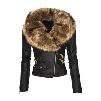 faux fur leather Jacket Women hoodies Winter Autumn Motorcycle Jacket Black Outerwear faux leather PU Jacket 2019 Coat HOT women floral print embroidery faux soft leather jacket coat turn down collar casual pu motorcycle black punk outerwear zogaa