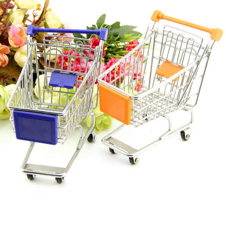 Venta directa de fabricantes Mini carrito de la compra carrito de la casa de juego 10 yuanes tienda al por menor pequeña cesta de almacenamiento al por mayor