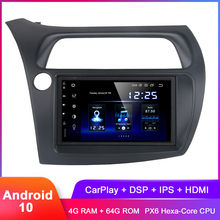 "7 ""Android 10 autoradio GPS pour Civic2011 hayon 2007 2008 2009 2010 en tableau de bord 2 Din Auto Radio WiFi DSP Audio vidéo Headunit(Hong Kong,China)"