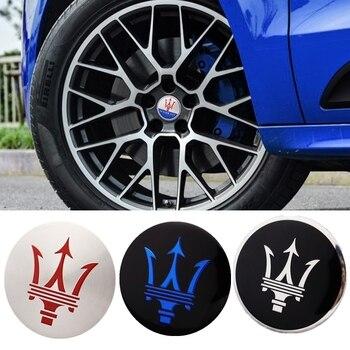 4 Uds tapacubos de coche centro de la etiqueta engomada para Maserati Quattroporte Coupe Gran Turismo Ghibli GT Gransport Coupe Levante Accesorios