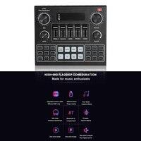 Tarjeta de sonido para estudio de Audio, adaptador de sonido compatible con Bluetooth V9 para teléfono, PC, transmisión en vivo, piezas de seguridad para ordenador doméstico
