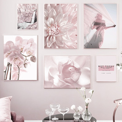 Pink Flower Woman Phalaenopsis Mountain Quotes Nordic Posters And Prints Wall Art Canvas Painting Wall Pictures For Living Room