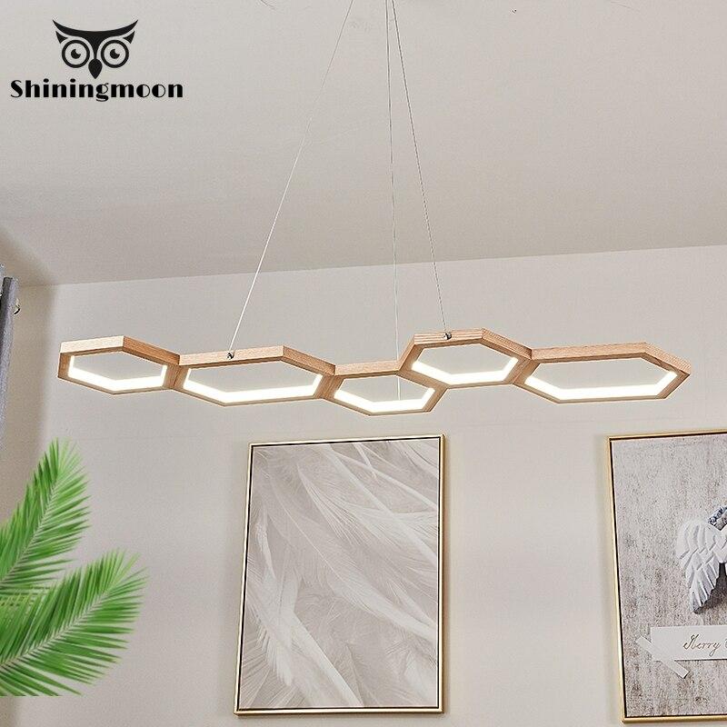 Modern LED Wooden Pendant Lights Vintage Home Decor Kitchen Pendant Lamp Coffee Store Restaurant Lighting Hanging Lamp Luminaria