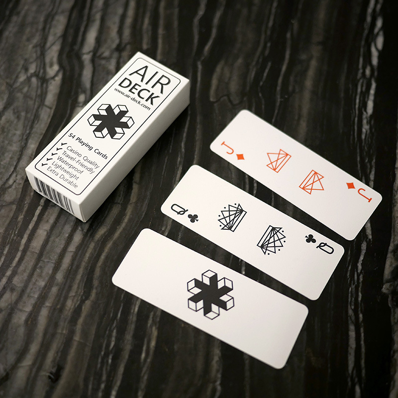 Slag Washing Air Deck Creative Playing Cards Adult Cool Cute Plastic Mini Extra Small Card Waterproof Playing Cards