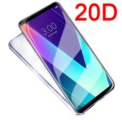 На Алиэкспресс купить стекло для смартфона 20d full cover tempered glass on the for lg g8 v20 v30 v40 v50 thinq 5g q6 q60 g6 k40 k50 k10 2017 k8 2018 screen protector film