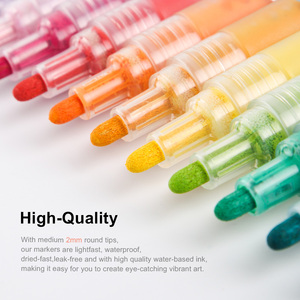 Image 2 - Arrtx Acrylic Marker pen Permanent Paint 24 Colors for Ceramic Rock Glass Porcelain Mug Wood Canvas Painting Art Design Supplier