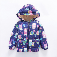 Jacket Trench-Coat Girls Autumn Winter Fashion Children's Velvet Plus LZH Mid-Length