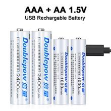 Аккумуляторные литий-ионные батарейки 1,5 в AA + AAA, МВт/ч, МВт/ч, usb