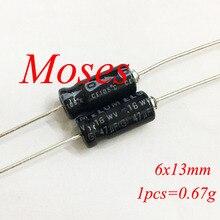 16 v, 47(Европа) мкФ аудио Аксиальный электролитический конденсатор постоянной ёмкости, универсальный конденсатор 6,5x13 мм