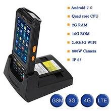 DHL Портативный 4G Android7.0 PDA 1D 2D сборщик мобильных данных pos-терминал с камерой NFC QR ChargeSeat Wifi Bluetooth gps