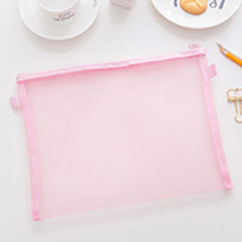 Solid Color Document Bag Durable Lightweight PVC Briefcase Document Bag Paper File Folders School Supplies