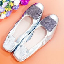 Women Flats 2020 Elegant Slip On Ballet Flats Mother Shoes Bling Crystal Flats Shoes Woman Shallow Lady Shiny Flat Loafers Shoes цена 2017