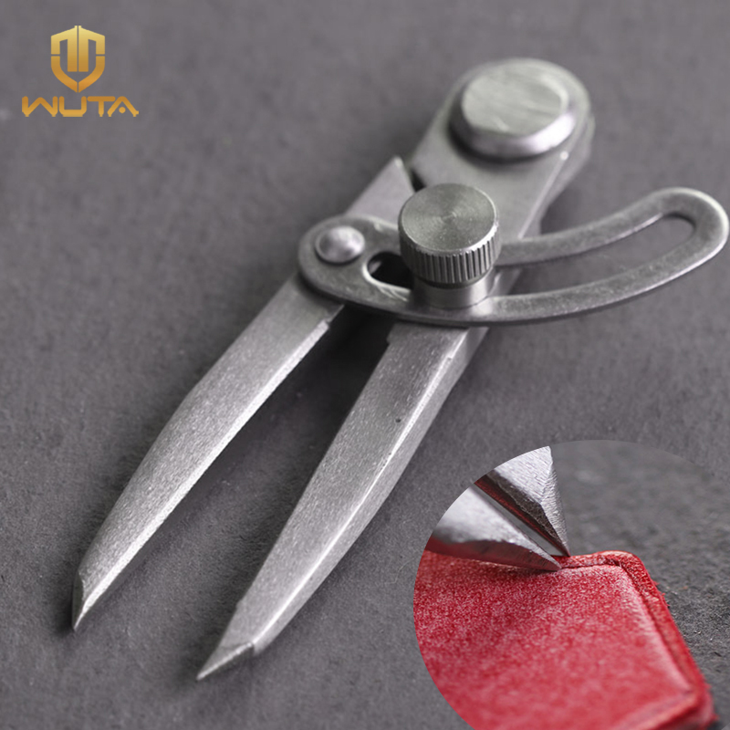 WUTA Stainless Steel Adjustable Spacing Compass Durable Leather Craft Regulation Tools Edge Creaser DIY Wing Divider Scriber 4