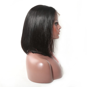 Image 4 - ALITOP 13x4 Straight Bob Wig Lace Front Human Hair Wigs 150% Density Pre Plucked Bleached Knot Natural Color Brazilian Remy Hair