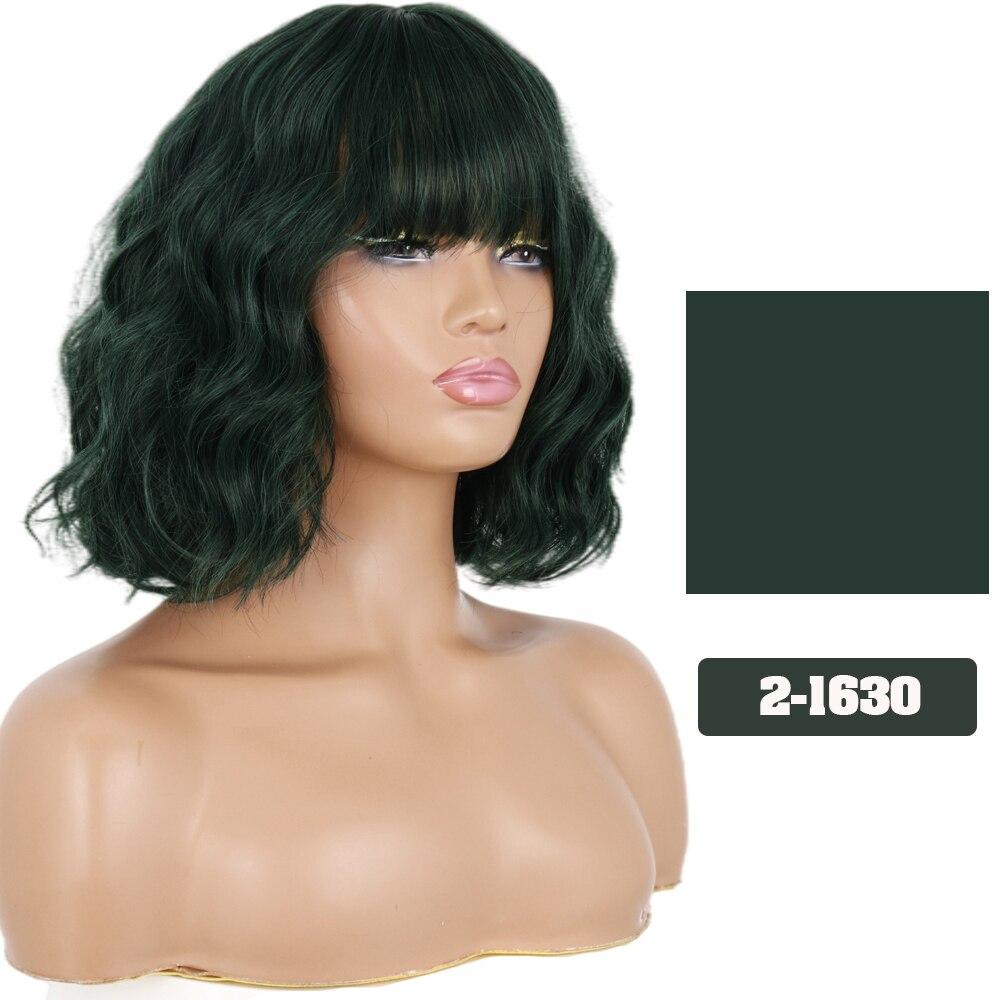 Lisihair sintético curto ondulado ombre perucas para
