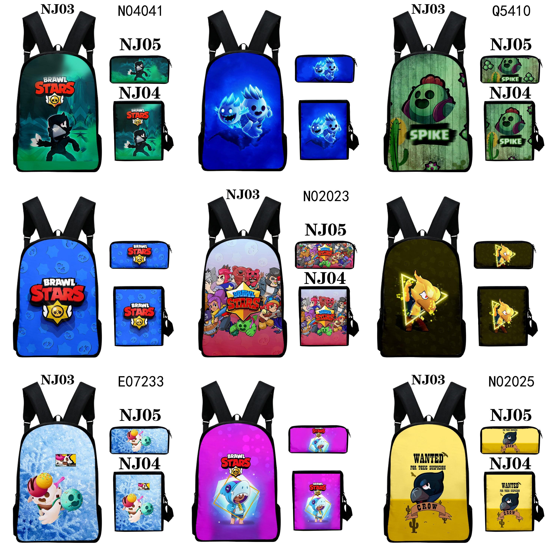 Brawling Cartoon School Bags  Star Boys Cartoon Spike Shelly Leon PRIMO MORTIS Schoolbag For Teenagers Student Book Bag Satchel