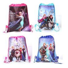 Bolsa de almacenamiento de Frozen de Disney para niños, paquete de figuras de Frozen 2, Elsa, Anna, bolsa de bolsillo, juguetes de figuras Anmie para niños